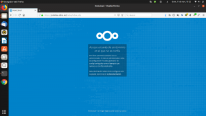 Error de dominio en Nextcloud 14